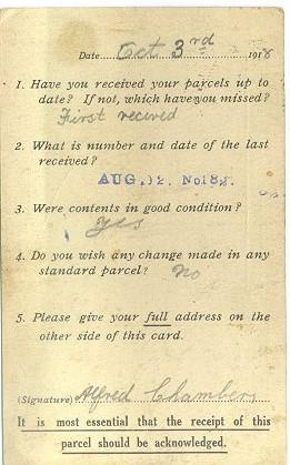 RRC Alf Chambers - letter received - dd 3r October 1918 AR rev.jpg