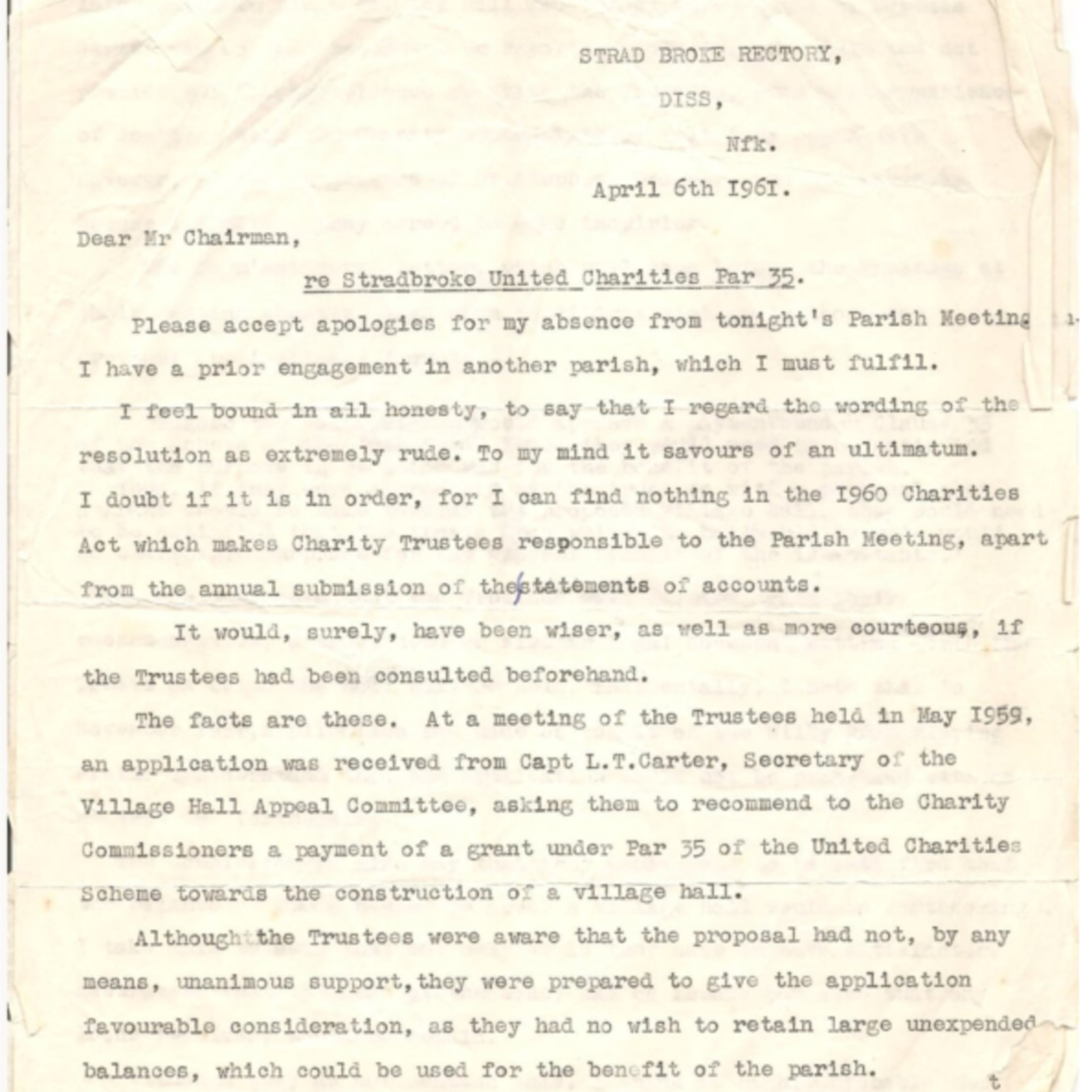 letter vicar and trust 1961.pdf
