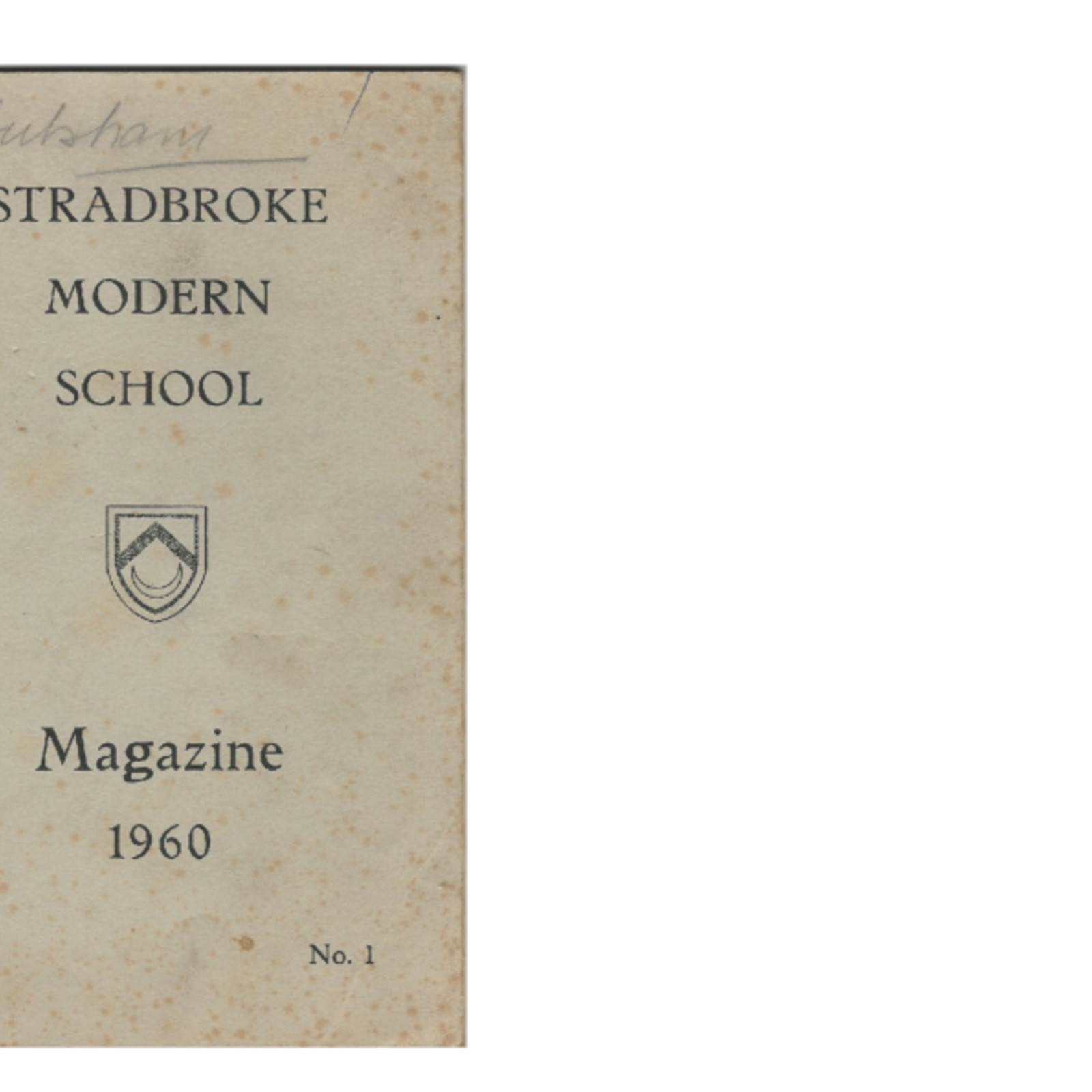 STRADBROKE HIGH SCHOOL MAG 1960 PART ONE.pdf