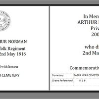 Arthur Norman WW1 memorial AR.jpg