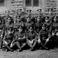 JC019 - WW1 - 4th Sufolk recr at a church strd pos B&W.jpg