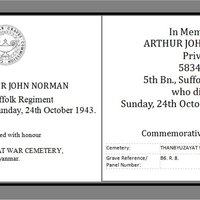 CWG in memory of Arthur John Norman WW2 AR.jpg