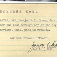 Tempory Pass to enter the American Air Base at Horham WW2.jpg