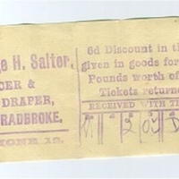 George H Salter, Grocer and Draper - Discount Ticket 1937 AR.jpg