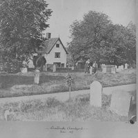 AH001 Places - The Chantry - early photo 1877 across churchyard.jpg