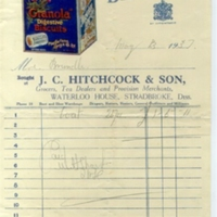 Bill JC Hitcock and Son Grocers, Tea Dealers and Provisions  dd 1937 AR.jpg
