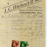 Bill JC Hitcock and Son General Drapery Millinery Boots and Shoes dd 1936 AR.jpg