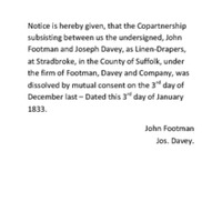 Transcription of the Gazette Issue 19012 published on the 11th January 1833.pdf