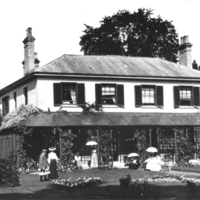 AM13 The Vicarage looking N at rear of house c1910.jpg